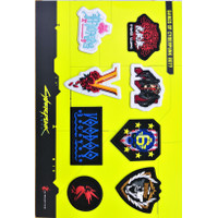 Bordir Merchandise Cyberpunk 2077 Logo Badge - Wappen Bordir Cyberpunk