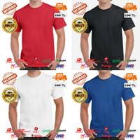 Baju Kaos Polos Unisex Short Sleeves Polyester - Dewasa Lengan Pendek