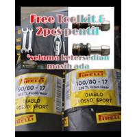 Paket Ban Pirelli Diablo Rosso Sport 90/80-17 100/80-17