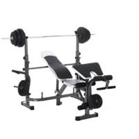 alat fitness bench press id 781N include beban 40kg dan stik