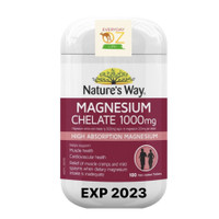 Nature's Way Magnesium Chelate 1000mg 100 Tablets natures original