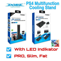 Dobe multifunctional cooling stand with led light for ps4 slim/pro/fat