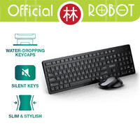 Robot KM4000 Wireless Keyboard & Mouse Combo Silent Key
