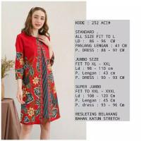 jumbo dress imlek / batik imlek / baju imlek / batik bigsize