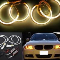 SET LAMPU LED BALLAST ANGEL EYE RING MOBIL BMW E46 3 SERIES AB01