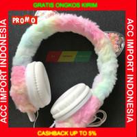 Headphone Bando Belajar anak Headset Belajar Karakter Unicorn With Mic
