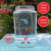 Toples Plastik Kotak Ikan Cupang 2 Liter