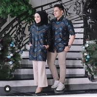baju batik sarimbit pasangan coupel pria wanita murah modern seragam