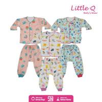 Baju Anak Bayi Little Q Setelan Baju Celana Panjang SNI New Born - NB