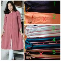 atasan blouse dress wanita hamil baju muslim long tunik jumbo big size