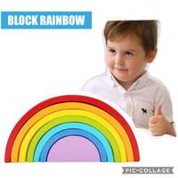 WOODEN BLOCK RAINBOW | EDUCATION TOYS | BALOK PELANGI | MAINAN EDUKASI