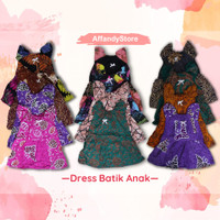 Daster batik anak/baju tidur anak/dress anak santai/dress murah