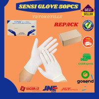 Sarung Tangan Karet Latex Sensi Glove Medis 50pcs