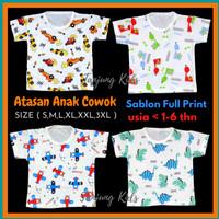Baju kaos atasan bayi anak laki laki cowok full print murah kekinian