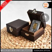 PREMIUM Box Logam Mulia Antam Berjahit / Kotak Tempat Emas Antam