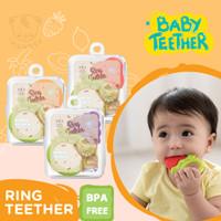 Baby Teether Gigitan Bayi Buah Mainan Gigi Silikon + Free kotak