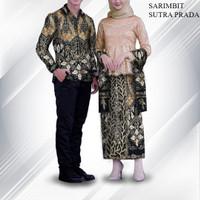 bahan sarimbit kain batik tulis sutra atbm perada emas hitam - All Size