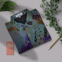 Kemeja Jumbo 4L Batik Tulis Abstrak Super Maestro SM248