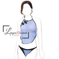 Set Lingerie Seksi Baju & Celana Dalam Model Cosplay Cheongsam LG084