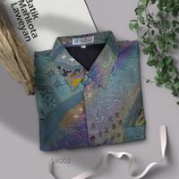 Kemeja Jumbo 5L Batik Tulis Abstrak Super Maestro SM202