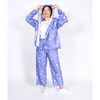 Setelan Jas Hujan + Celana Wanita Cewek Dewasa Size M-L-XL Murah