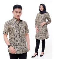 couple batik   batik pasangan   motif terbaru   motif ga pasaran - kemeja cowok, M
