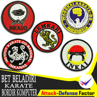 Bet FORKI Karate Badge Emblem Logo Bordir