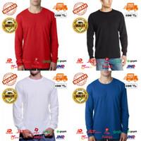 Baju Kaos Polos Unisex Long Sleeves Polyester - Dewasa Lengan Panjang