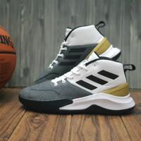 sepatu basket adidas Own The Game (Cloud White/Gold) Original