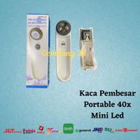Kaca Pembesar Portable 40x Mini Led Magnifying Loop Glass MG6B -1B