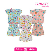 Baju Anak Bayi Little Q Setelan Baju Celana Pendek SNI New Born - NB