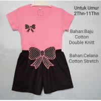 Chang Fashion Setelan Anak Perempuan Usia 2-11 thn - Pink, 2-3 tahun