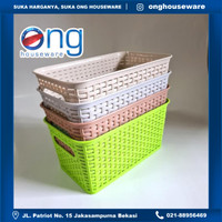 Keranjang Serbaguna Wadah Segi Rak Basket Multifungsi Asvita BK282