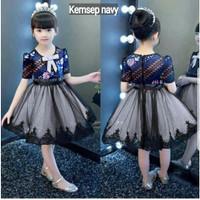 Dress Clarabella batik kids 3-4 dress anak baju batik anak baju pesta