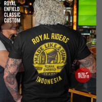 T-Shirt Kaos Royal Enfield Motor Rider Bikers - L