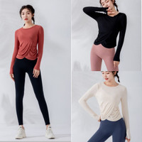 Baju Senam Tangan Panjang Yoga Olahraga Wanita/Top Long Sleeve WT1208