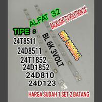 LAMPU BL BACKLIGHT BACKLIGT TV LED POLYTRON PLD 24D1852 24T1852 24D123