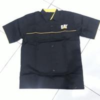 Kemeja caterpillar CAT / Baju alat berat - Hitam, M