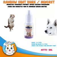 Obat Diare mencret Gangguan Pencernaan Kucing Anjing Rainbow 8 Ml