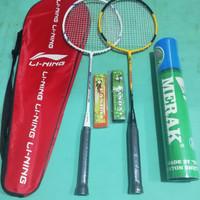 Paket super kumplit Raket Badminton Li-Ning