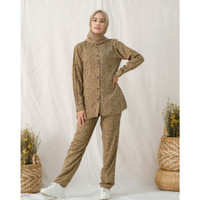 baju setelan wanita muslim celana set busui friendly