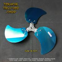 Turbo blade baling kipas angin 16 besi aluminium aloy berkualitas