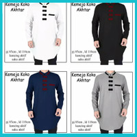 baju koko pria dewasa / baju muslim laki laki AKHTAR, gamis pria