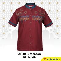 Baju Koko Pria Zeintin AT 3035 Maroon - Maroon, XL
