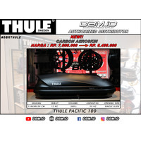 PROMO Roof Box Thule Pacific 100 Black Carbon Aero bagasi atas mobil