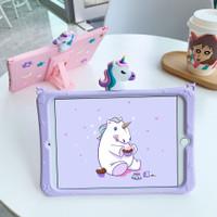 Case silikon ipad mini unicorn 1 2 3 4 5 karakter anak standing tali