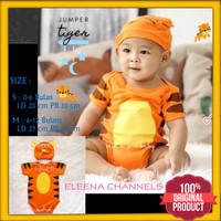 Baju Jumper Bayi Laki-laki Karakter Tiger 0-12 Bulan Bayi Baru Lahir - S