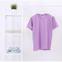 Kaos Polos Cotton Combed 30s 100% Cotton Original Warna Ungu Lilac
