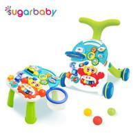 baby walker dan meja bermain untuk anak 10in1 sugar baby - Hijau