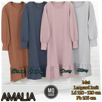 Baju Tunik Terbaru Polos Knit Import Quality Rampel Amalia